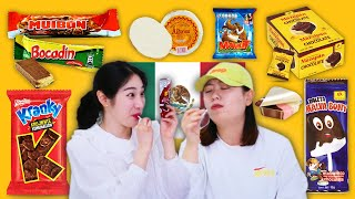 Koreans in their 30s try MEXICAN CANDIES (Mazapan, Paletas, Wafers and more)