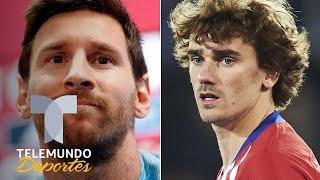 La tajante respuesta de Messi al preguntarle por Griezmann | Telemundo Deportes