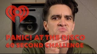 """Brendon Urie (Panic! at the Disco) - """"60 Sec Challenge"""" Interview 