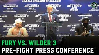 "Tyson Fury says he plans to run over Deontay Wilder ""like an 18-wheeler""   Fury vs Wilder 3 Presser"