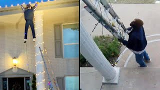 Good Samaritan Calls 911 to Rescue 'Man' Dangling From Roof in Holiday Display