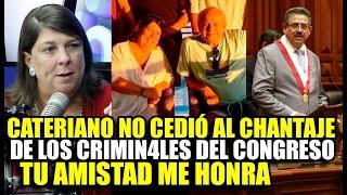 ROSA MARIA PALACIOS SUFR3 POR CATERIANO, INCLUSO ACUSA DE ORGANIZACIÓN CRIMIN4L EN EL CONGRESO