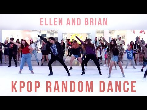 KPOP Random Play Dance in Los Angeles | Ellen and Brian