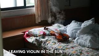 How NOT To Look After Your Instrument!