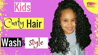 😍 Kids Curly Hair Routine | Wash & Style 😍