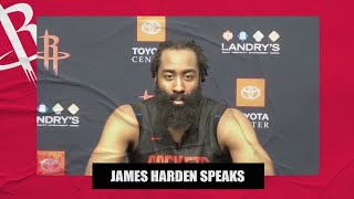 'Next question' - James Harden when asked about his situation with the Rockets | NBA on ESPN
