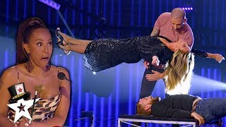 Illusionist Conjures UNBELIEVABLE Stunt with Heidi Klum on AGT Champions | Magicians Got Talent