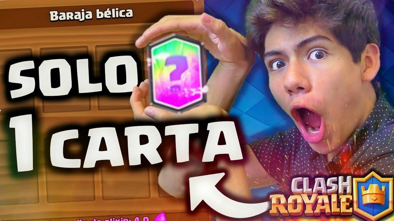 Gano Con Solo 1 Carta En Clash Royale Imposible Antrax