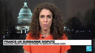 Macron, Biden have 'friendly' talk to defuse submarine row • FRANCE 24 English