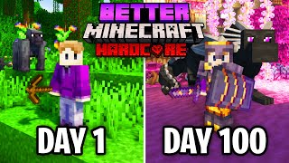I Survived 100 Days in Better Minecraft Hardcore… Here's What Happened