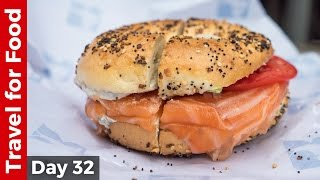 Salmon Bagel at Russ & Daughters and Amazing Tacos at Los Tacos No. 1 in NYC