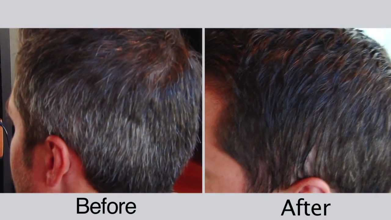 Before And After Men S Hair Color For Covering Gray Hair