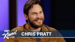 Chris Pratt Thinks It's Jimmy Kimmel's Last Show Ever & Reveals Gift from Arnold Schwarzenegger