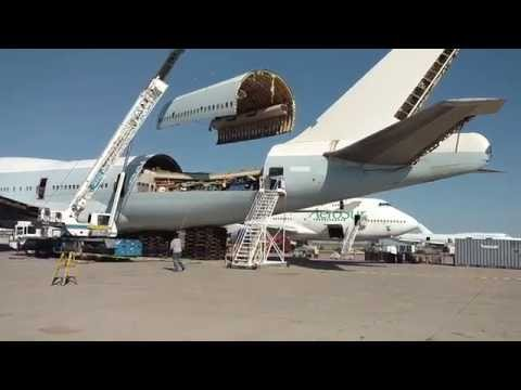 Boeing 747-400 Crown Skin Removal