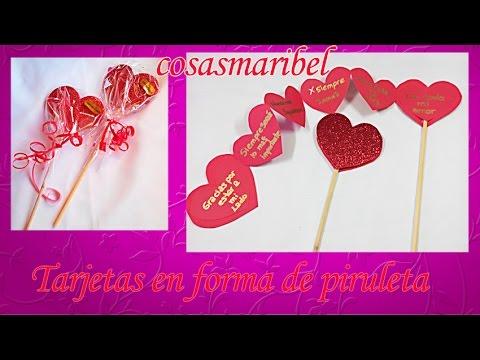 DIY:Como hacer tarjetas en forma de piruleta para San Valentín.