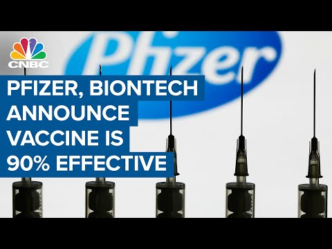 Pfizer, BioNTech announce Covid-19 vaccine candidate is 90% effective