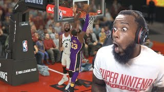 Lebron James Posterizer DUNK on Kawhi Leonard! Lakers vs Raptors NBA 2K19 MyCareer Ep 40