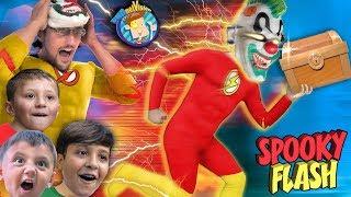 Spooky Superhero Flash stole our TREASURE CHEST  (FV Family Skit)