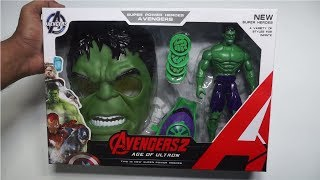 Hulk Avengers 2 with Face Mask, Arm Shooter,Action Figure with Movable Arms,Legs & Led Light