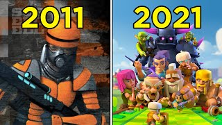 Evolution Of Supercell Games (2011 - 2021)