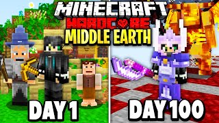 I Survived 100 Days in Middle Earth on Minecraft.. Here's What Happened..