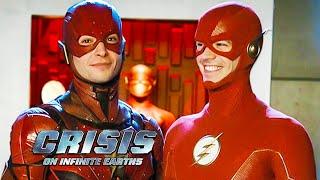 Crisis On Infinite Earths Ezra Miller Cameo Scene - Justice League Flash Movie Breakdown