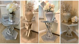 D.I.Y END TABLES Using DOLLAR TREE Wood Decor || Dazzling Designs By Denise
