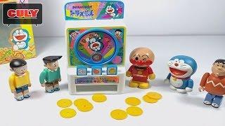 Đồ chơi Doremon - Máy oẳn tù tì bằng đồng xu - Doraemon janken machine anpanman toy