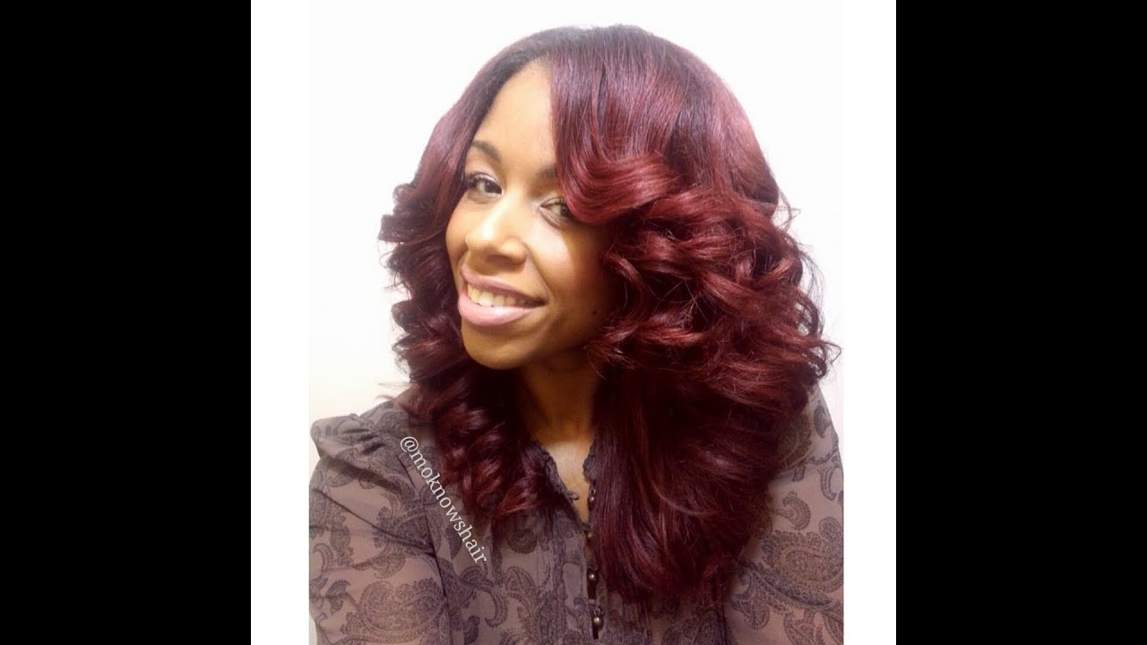 Hair Style With Curls: Flat Iron Curls