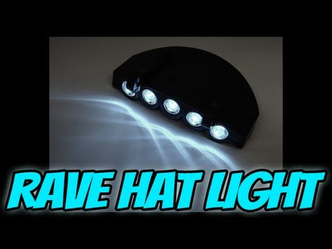 Techno Rave Ready Light Up Hat Equipment - Hat Light Review (BEWILD.COM)