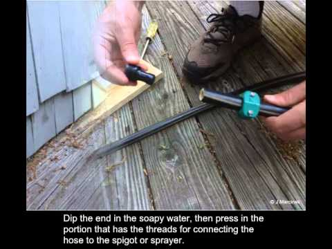 How to repair a hose that leaks at the coupling