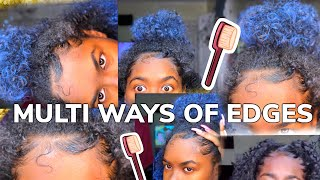 How To Style Your Edges Multiple Ways - YouTube