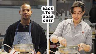 Marlon Wayans Tries to Keep Up With a Professional Chef | Back-to-Back Chef | Bon Appétit