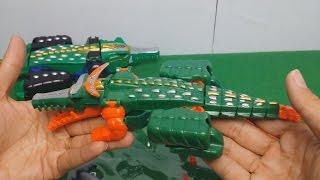 Robot gao cá sấu phiên bản mini - robot siêu nhân gao