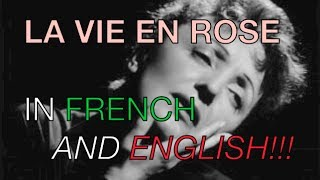 Edith Piaf - La Vie En Rose - English and French - English Translation Subtitles
