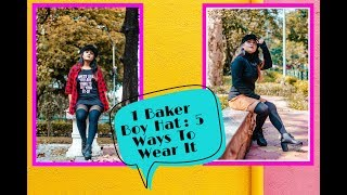 1 Baker Boy Hat : 5 Ways To Wear It  | How to Style Series #5 | TheVogueStellar