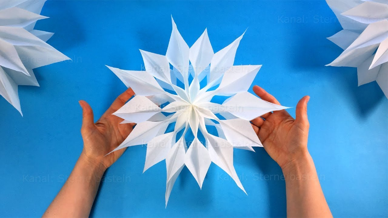 Sterne Basteln Mit Papier Butterbrottüten Zu Weihnachten Diy Weihnachtssterne Falten Weihnachtsdeko