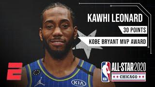 Kawhi Leonard wins the first-ever Kobe Bryant All-Star Game MVP Award | NBA All-Star Highlights