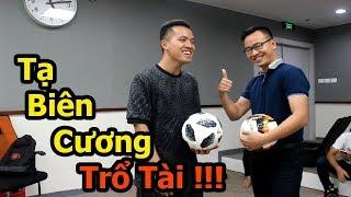 Thử Thách Bóng Đá với BLV Tạ Biên Cương người bình luận siêu phẩm Quang Hải U23 Việt Nam và Penalty