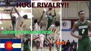 HUGE RIVALRY GAME East vs. Geogre Washington **TWO POSTERS** in front of packed stadium