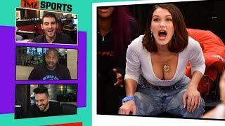 Bella Hadid Goes Full Bust At Knicks, Lakers Game I TMZ SPORTS