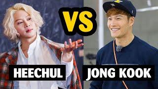 When savage Heechul talks to sparta Kim Jong Kook 😆😆😆