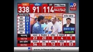 Lok Sabha Results LIVE | राज्यात भाजपला 23 जागांची आघाडी | विनोद तावडे LIVE-TV9