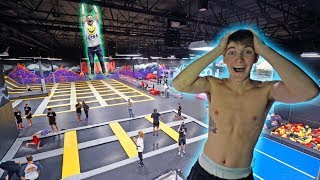 WORLD'S BIGGEST TRAMPOLINE PARK TO OURSELVES! *INSANE*