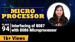 Interfacing of 8087 with 8086 Microprocessor - 8087 Math Coprocessor - Microprocessor