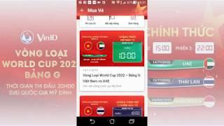 Hướng dẫn mua vé bóng đá trên ứng dụng VINID, đã thành công