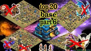 clash of clans,top 20,TH 12 war base 2018, part 6,new update