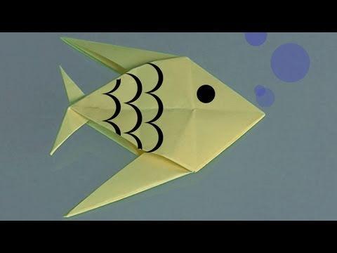 Comment faire un poisson en papier ?
