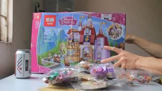 Mở hộp Lepin 01010 Lego Disney Princess 41067 Belle's Enchanted Castle giá cực sốc