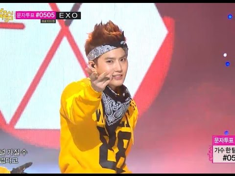 【TVPP】EXO - Wolf (Yellow Ver.), 엑소 - 늑대와 미녀 @ Show! Music Core Live